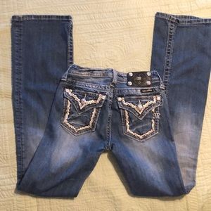 Girls 'Miss Me' 5 Pocket Bootcut Jeans